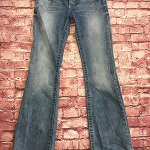 Harley Davidson light wash distressed jeans. 4